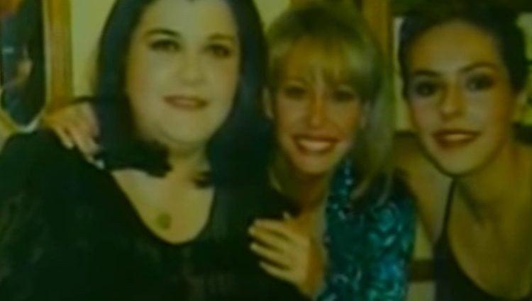 Cristina Blanco con Rocío Carrasco y Lara Dibildos / Foto: 'Aquí hay tomate'