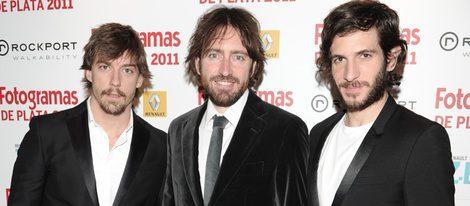 Adrián Lastra, Daniel Sánchez Arévalo y Quim Gutiérrez en los Premios Fotogramas