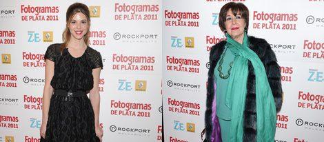 Concha Velasco y su sobrina Manuela en los Fotogramas de Plata