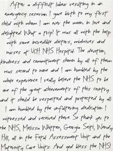 Primeras palabras de Paloma Faith tras dar a luz. Fuente: Instagram