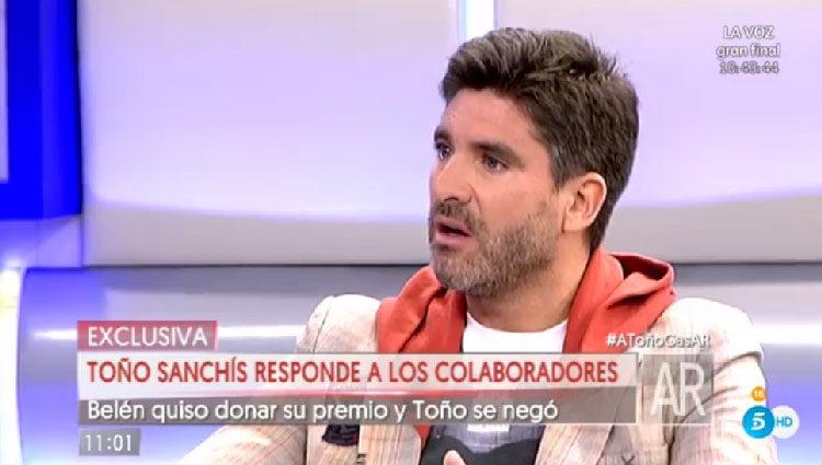 Toño Sanchís aclara las cosas/ telecinco.es