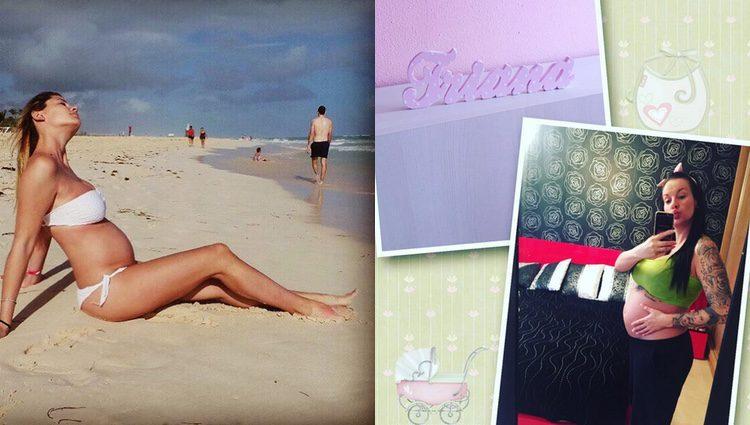 Elisabeth Reyes y Laura Campos luciendo embarazo / Instagram