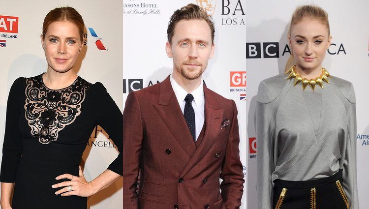 Algunos de los asistentes al evento: Amy Adams, Tom Hiddleston y Sophie Turner