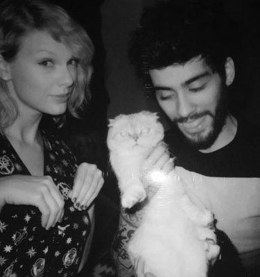 Zayn Malik y Taylor Swift juntos grabando 'I Don't Wanna Live Forever'