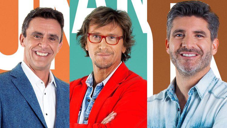 Alonso Caparrós, Alejandro Abad y Toño Sanchís forman uno de los primeros grupos