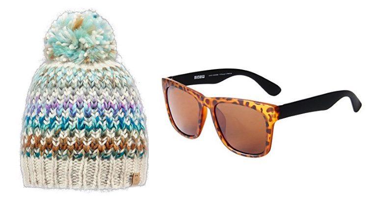 Gorro y gafas de sol