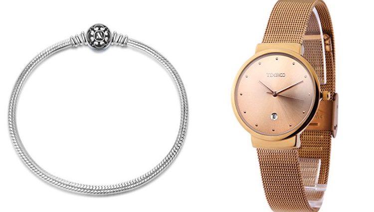 Pulsera de mujer y reloj de pulsera