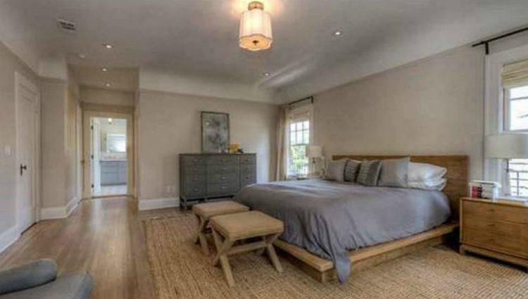 Uno de los dormitorios de la casa de Gustavo Dudamel