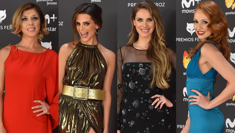 Eva Isanta, Macarena Gómez, Vanesa Romero y Cristina Castaño en los Premios Feroz 2017