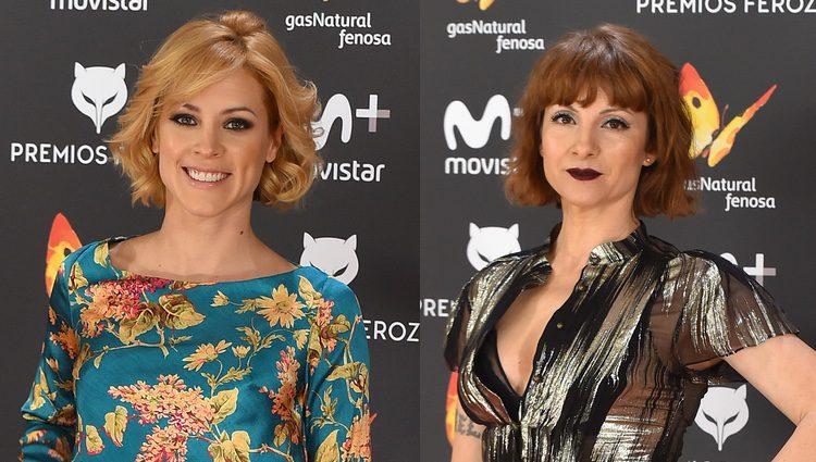 Maggie Civantos y Najwa Nimri en los Premios Feroz 2017