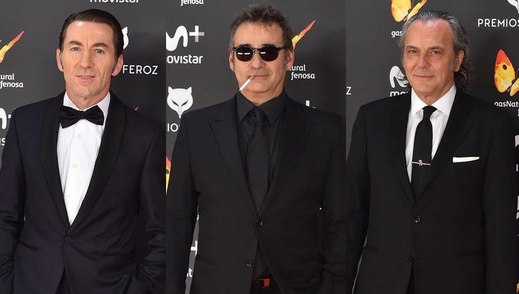 Antonio de la Torre, Eduard Fernández y José Coronado en los Premios Feroz 2017
