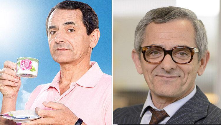 Iñaki Miramón en 'Con el culo al aire' (izq) y en 'Amar es para siempre' (der)