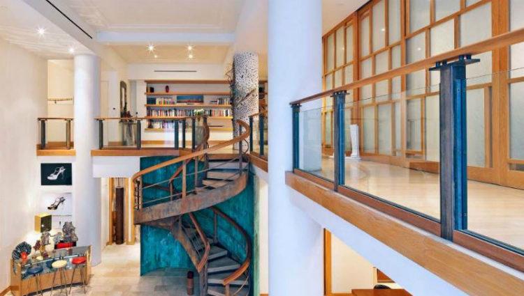 Vista de los dos pisos que conforman el apartamento de Keira Knightley en Nueva York