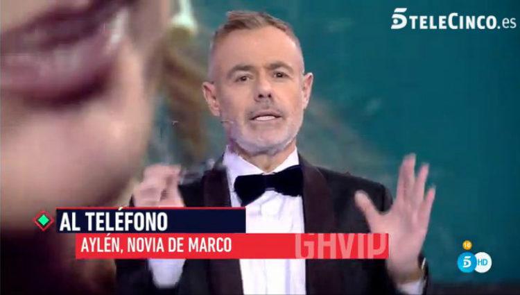 Jordi González entrevista telefónicamente a Aylén Milla | telecinco.es