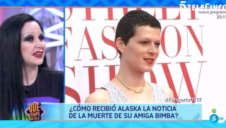 Alaska despide a Bimba Bosé en 'QTTF' / Telecinco.es
