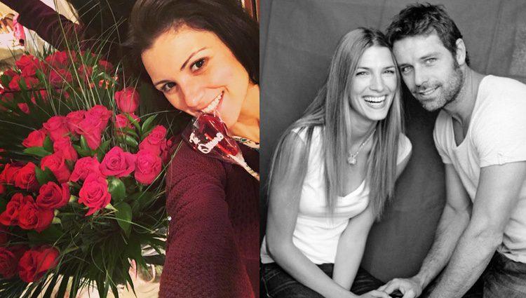 María Jesús Ruiz con su ramo de flores y Laura Sánchez muy enamorada/ Fuente: Instagram