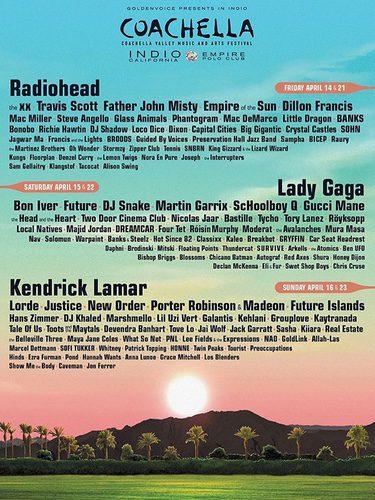 Cartel oficial de Coachella 2017/ Fuente: Instagram Lady Gaga