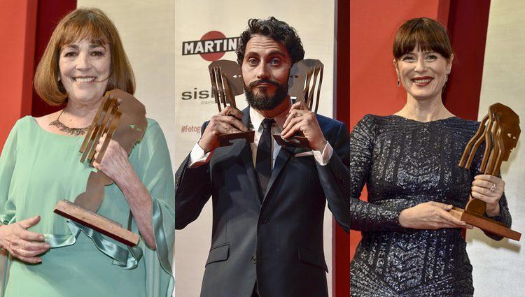 Carmen Maura, Paco León y Aitana Sánchez Gijón con su Fotograma de Plata