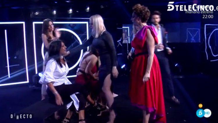 Irma Soriano y Aída Nízar en plena discusión / Telecinco.es