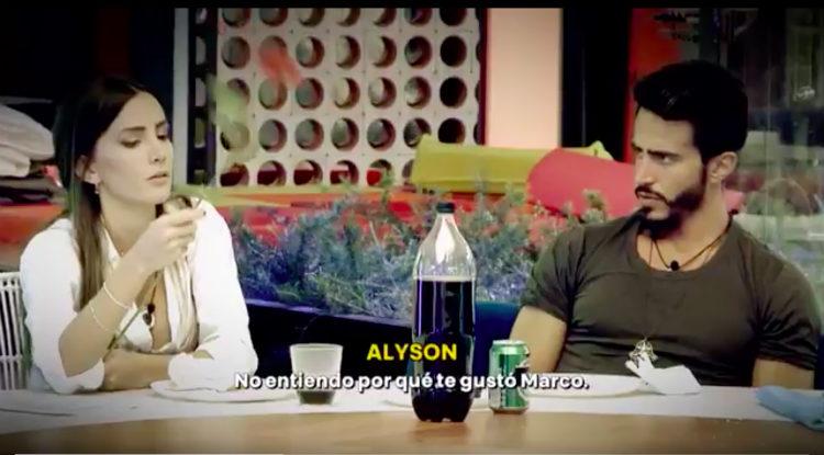 Marco se enfada por los reproches de Aylén a Alyson | telecinco.es