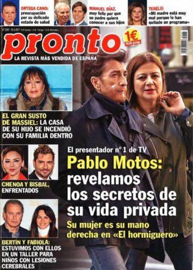 Pablo Motos en la portada de Pronto