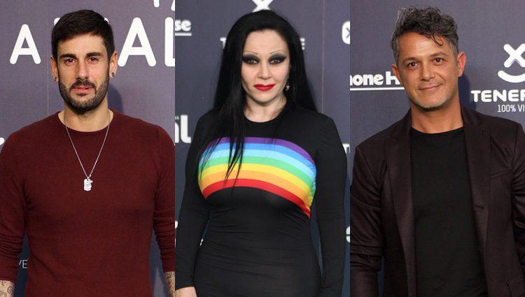 Melendi, Alaska y Alejandro Sanz en la gala de los Premios Cadena Dial 2017