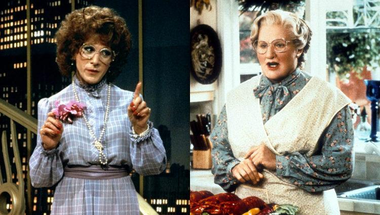 Dustin Hoffman y Robin Williams se disfrazan de mujer para cumplir su objetivo