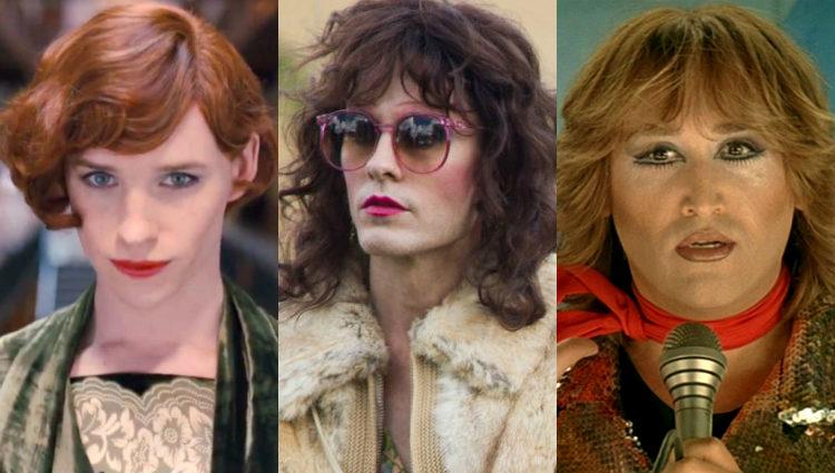 Eddie Redmayne, Jared Leto y Javier Cámara han dado vida a personajes transexuales