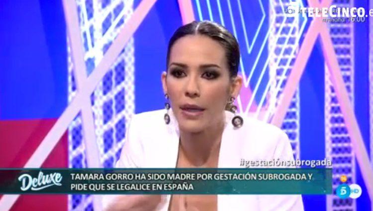 Tamara Gorro indignada con el debate de la gestación subrogada / Telecinco.es