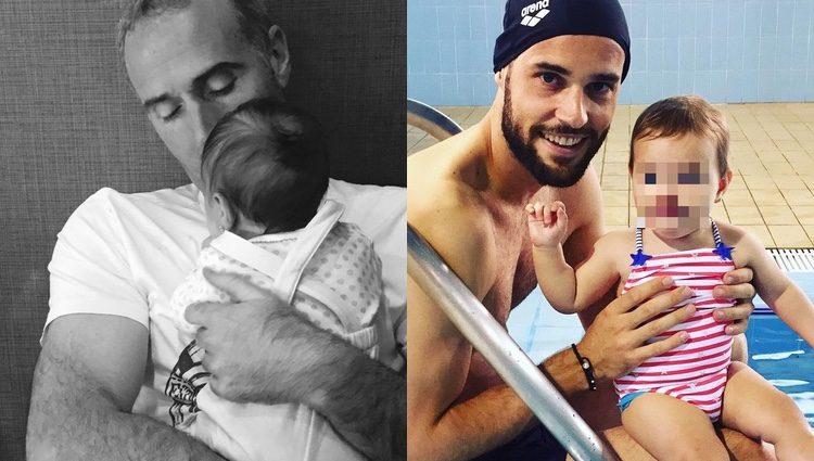 Álex Corretja con su hija y Mario Suárez con Matilda / Instagram
