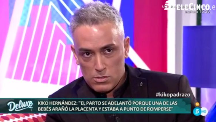 Kiko Hernández contando cómo fue el nacimiento de sus hijas / Telecinco.es