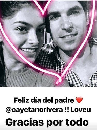 Lucía Rivera y su padre Cayetano Rivera / Instagram