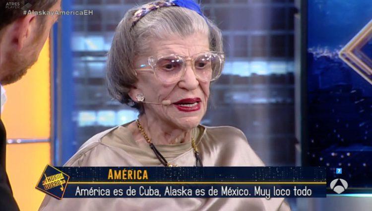 América, madre de Alaska, en su entrevista con Pablo Motos / Foto: Antena3.com
