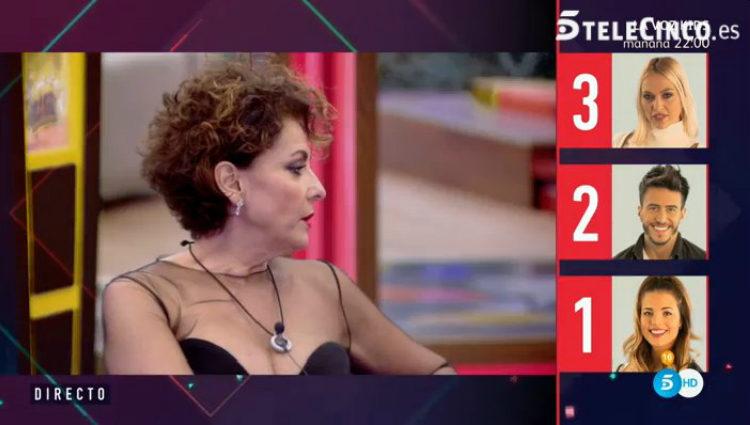 Irma Soriano reparte sus puntos en las últimas nominaciones   telecinco.es