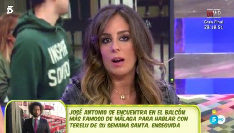 Anabel Pantoja hablando de su primera y Fausto / Telecinco.es