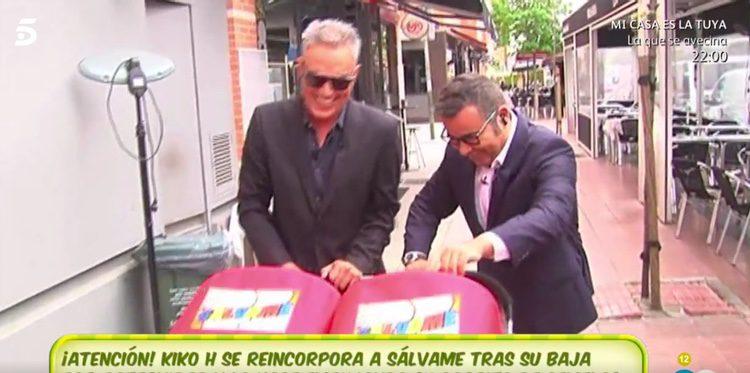 Kiko Hernández y Jorge Javier Vázquez antes de llegar al plató de 'Sálvame'