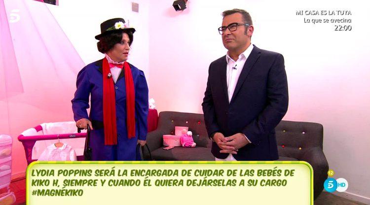 Lydia Poppins y Jorge Javier Vázquez en 'Sálvame'