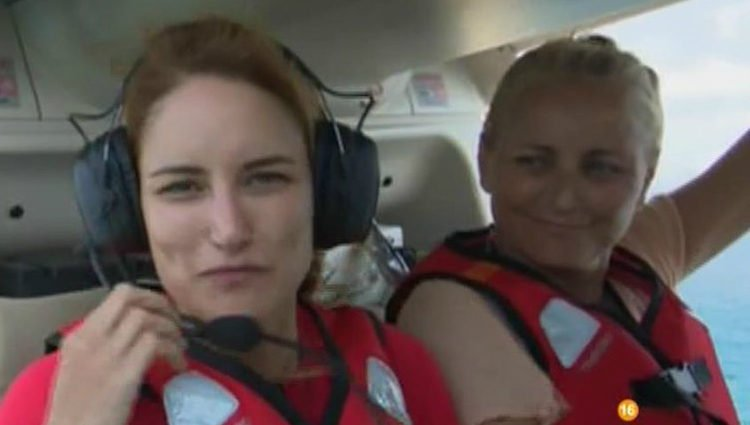 Alba Carrillo y su madre Lucía en el helicóptero | telecinco.es
