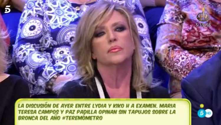 Lydia Lozano escuchando las palabras de Kiko Hernández / Telecinco.es