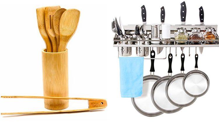 Accesorios de cocina y estante