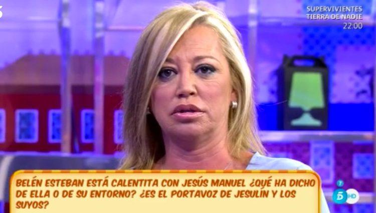 Belén Esteban contando la situación / Foto: telecinco.es