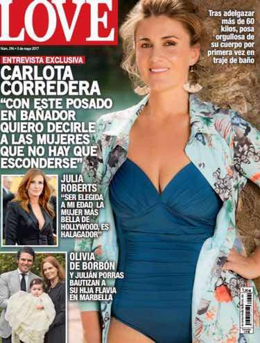 Carlota Corredera posando en bañador