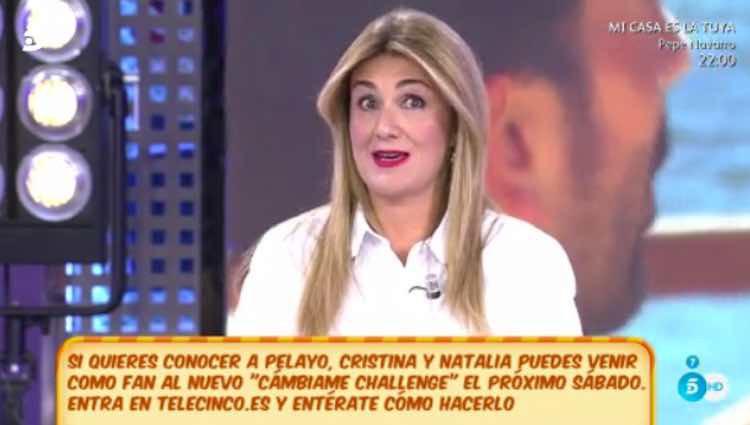 Carlota Corredera hablando de su posado / Telecinco.es