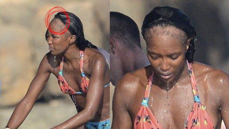 La calvicie de Naomi Campbell/ Fuente: E! news