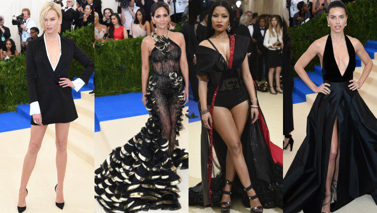 Karlie Kloss, Halle Berry, Nicki Minaj y Adriana Lima de negro