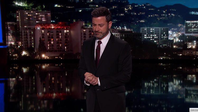 Jimmy Kimmel relatando muy emocionado el calvario vivido