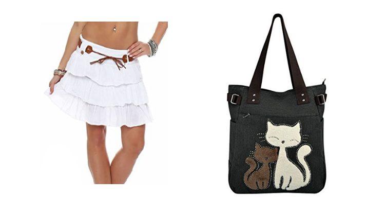 Falda de volantes y bolsa de gatos