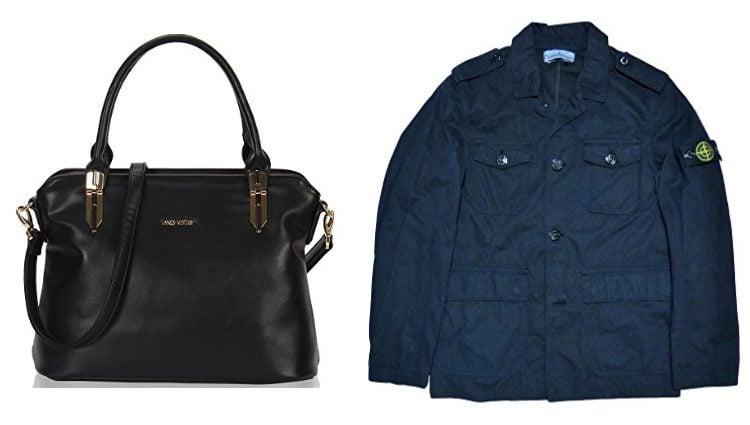 Bolso negro y chaqueta de niño