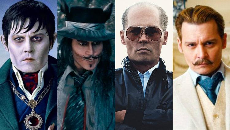 Johnny Depp en algunas de sus películas tras 'Los diarios del ron'