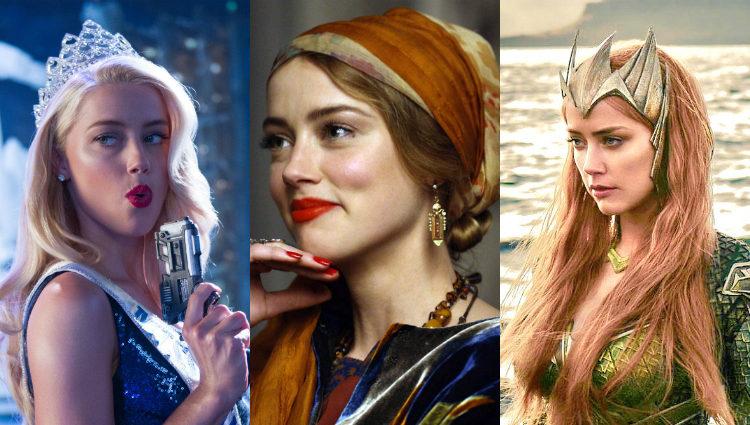 Amber Heard en algunos de sus papeles tras 'Los diarios del ron'